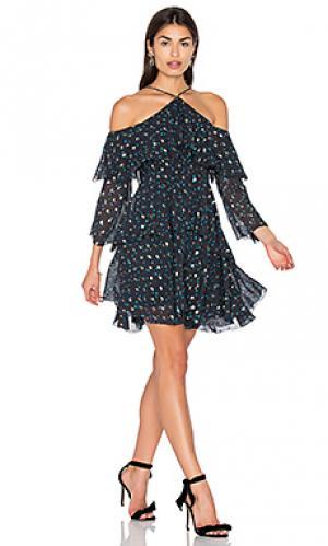 Платье с прорезями на плечах Cynthia Rowley. Цвет: синий