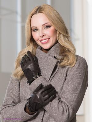Перчатки Szom-Hor. Цвет: темно-коричневый, серебристый