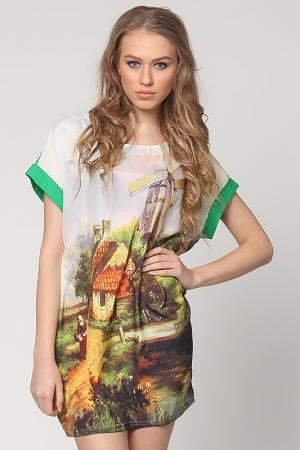 Платье EUFORIA. Цвет: зеленый