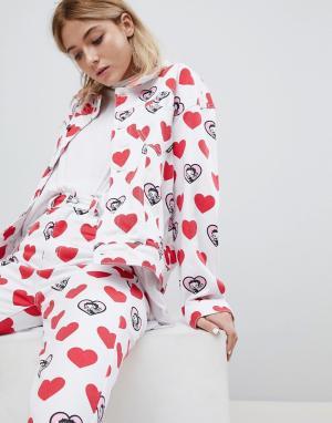 Lazy Oaf Джинсовая куртка с принтом X Betty Boop. Цвет: белый