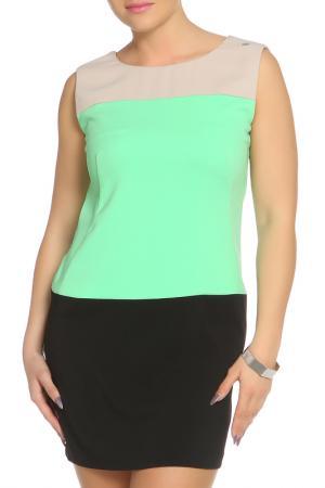 Повседневное платье Denny Rose. Цвет: черный, зеленый