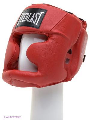 Шлем Martial Arts Leather Full Face Everlast. Цвет: красный