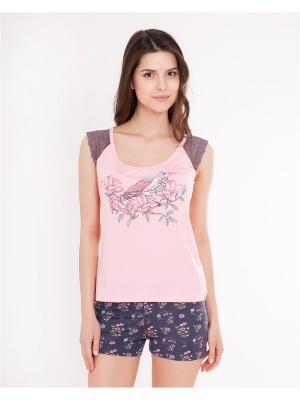 Пижама Mark Formelle. Цвет: серый, розовый