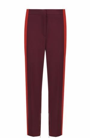 Укороченные брюки прямого кроя с лампасами Rag&Bone. Цвет: бордовый