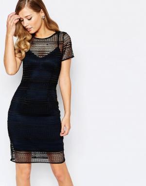 Body Frock Темно-синее платье Roxy. Цвет: синий