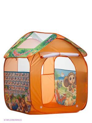 Игровая палатка Чебурашка Играем вместе. Цвет: оранжевый, зеленый
