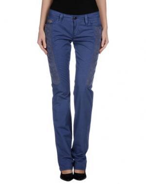 Повседневные брюки CHIRIBIRI. Цвет: синий