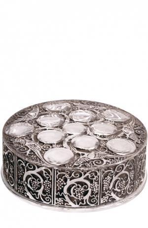 Шкатулка Roger Lalique. Цвет: бесцветный
