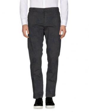 Повседневные брюки 40WEFT. Цвет: свинцово-серый