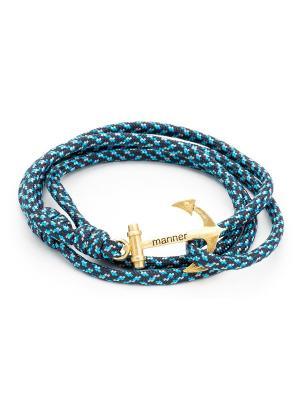 Браслет с якорем Blue spec Mariner Brand. Цвет: синий, голубой
