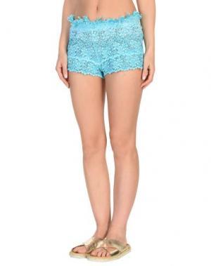 Пляжные брюки и шорты PIN UP STARS. Цвет: бирюзовый