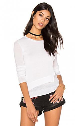 Ярусный свитер с круглым вырезом Inhabit. Цвет: белый