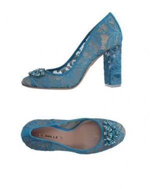 Туфли DEIMILLE. Цвет: лазурный