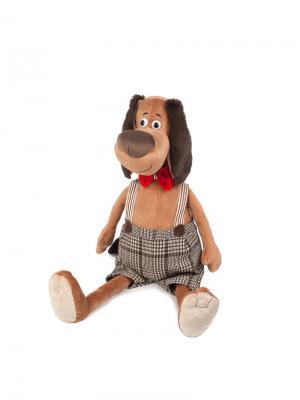Мягкая Игрушка Пес Шерлок в Жилетке, 36 См MAXITOYS. Цвет: синий, коричневый