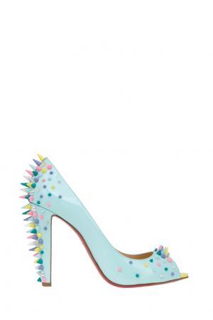 Кожаные туфли Jurayoo 100 Christian Louboutin. Цвет: голубой