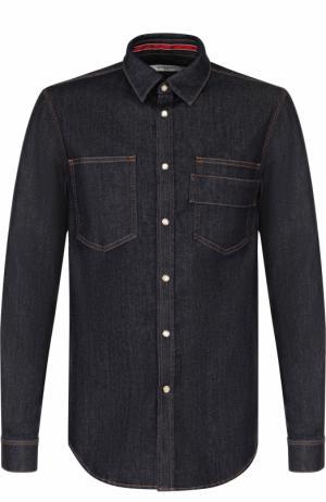 Джинсовая рубашка на кнопках Givenchy. Цвет: темно-синий