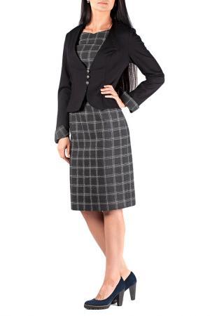 Жакет с платьем Mannon. Цвет: серо-кремовый