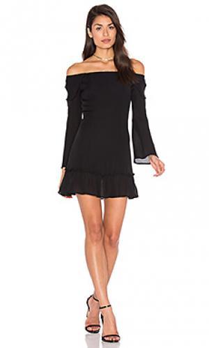 Мини платье elsa STONE_COLD_FOX. Цвет: черный