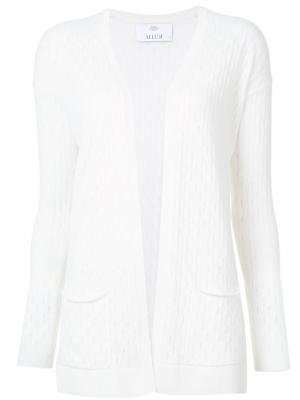 Кашемировый кардиган с карманами Allude. Цвет: белый