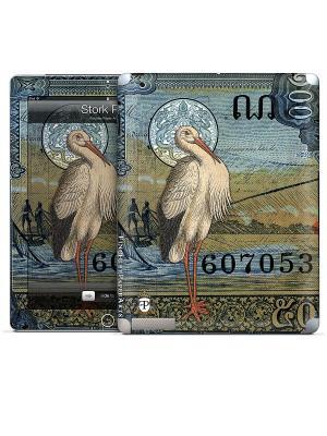 Виниловая наклейка для iPad 2,3,4 Stork Post Finchley-Paper Arts Ltd. Gelaskins. Цвет: серо-голубой, бежевый