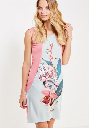 Платье домашнее Relax Mode. Цвет: розовый