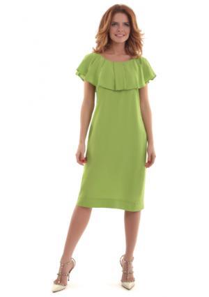 Платье MY STYLE. Цвет: желто-зеленый