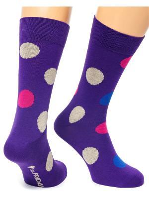 Дизайнерские Носки St.Friday Socks. Цвет: фиолетовый