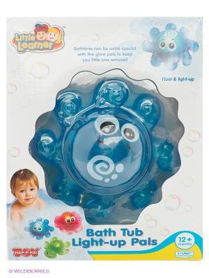 Игрушка для ванной со световым эффектом осьминожек Hap-P-Kid. Цвет: синий