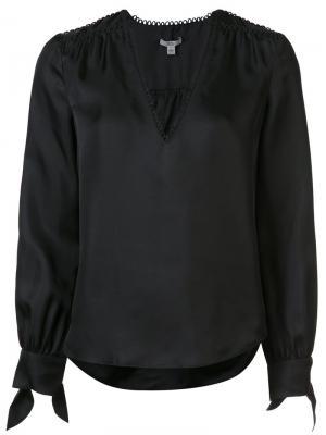 Блузка Savannah Zac Posen. Цвет: чёрный