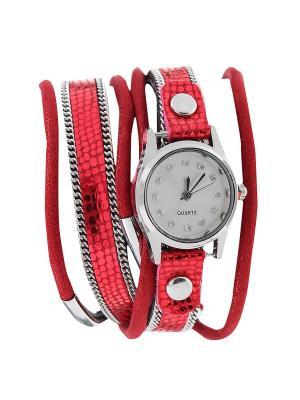Браслет-часы Olere. Цвет: серебристый, бордовый