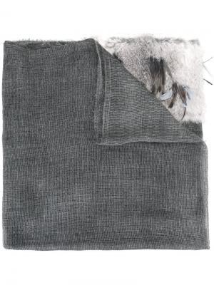 Шарф с необработанными краями Cutuli Cult. Цвет: серый