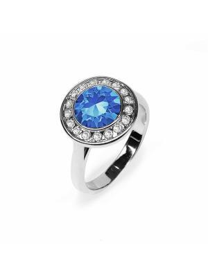 Кольцо Isabelle с сапфировыми кристаллами Swarovski Mademoiselle Jolie Paris. Цвет: синий,серебристый