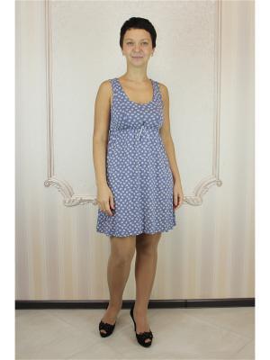 Сорочка Агапэ. Цвет: индиго, молочный