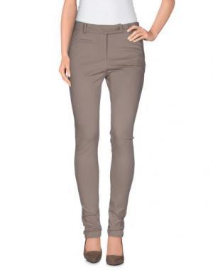 Повседневные брюки GERMANO ZAMA. Цвет: голубиный серый