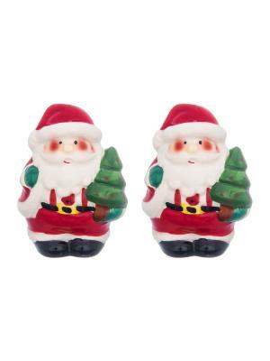 Набор для специй Дед Мороз Elan Gallery. Цвет: красный, белый, зеленый