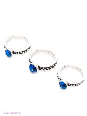 Кольцо, 3 шт Royal Diamond. Цвет: синий