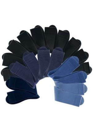 Носки, 20 пар COTTON REPUBLIC. Цвет: 10х оттенки коричневого+10х черный, 10х оттенки синего+10х черный