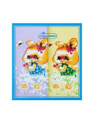 Платок носовой  детский по 2 шт. ZLATA KORUNKA. Цвет: желтый