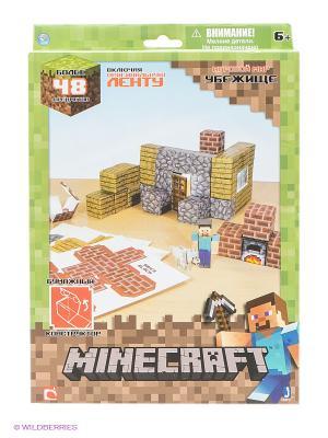 Игровой мир Убежище Minecraft. Цвет: зеленый, бежевый