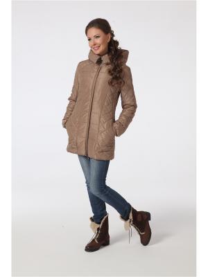 Куртка DizzyWay. Цвет: светло-коричневый