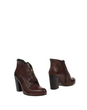 Полусапоги и высокие ботинки FABRIZIO CHINI. Цвет: темно-коричневый