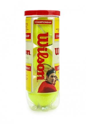 Комплект теннисных мячей 4 шт. Wilson. Цвет: желтый