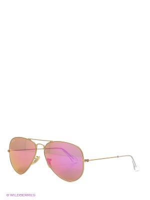 Очки солнцезащитные AVIATOR LARGE METAL Ray Ban. Цвет: золотистый
