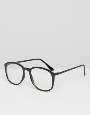 Spitfire Солнцезащитные очки в круглой оправе с прозрачными стеклами. Цвет: черный