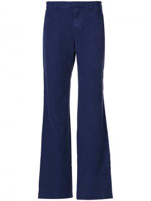 Широкие брюки Burberry. Цвет: синий