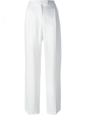 Широкие брюки Alexander McQueen. Цвет: белый