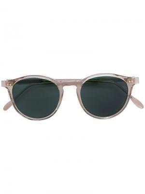 Круглые очки с затемненными линзами Pantos Paris. Цвет: телесный