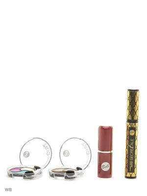 Спайка тушь secretale xtreme lashes, помада lipstick classic, тени trio eyeshadow Bell. Цвет: черный, бежевый, желтый, зеленый, коричневый, светло-коричневый, фиолетовый