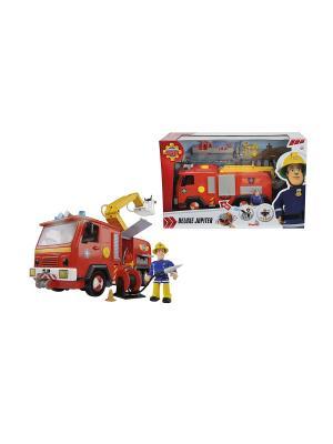 Пожарный Сэм Машина со звуком, светом и функцией воды, 28см + фигурка, 6/6 Simba. Цвет: черный, красный, желтый