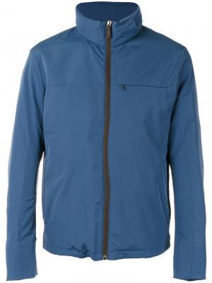 Куртка на молнии Canali. Цвет: синий